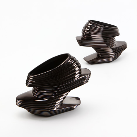 Nova shoe by zaha hadid for united nude black chrome