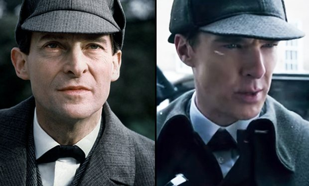 Sherlock christmas special trailer pays tribute to classic jeremy brett series with shot for shot recreation of opening scenes