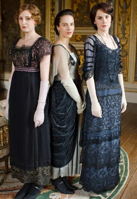 T downton abbey fashion dresses girls black laces