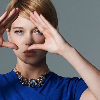 Lea seydoux blue dress wide hd wallpaper 200x200 2x