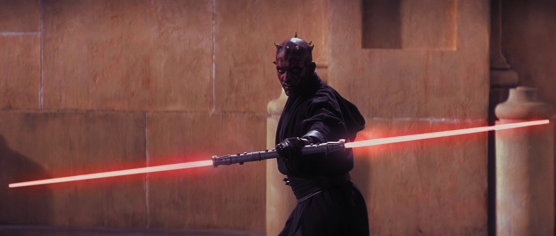 The phantom menace darth maul double bladed lightsaber 1920x816