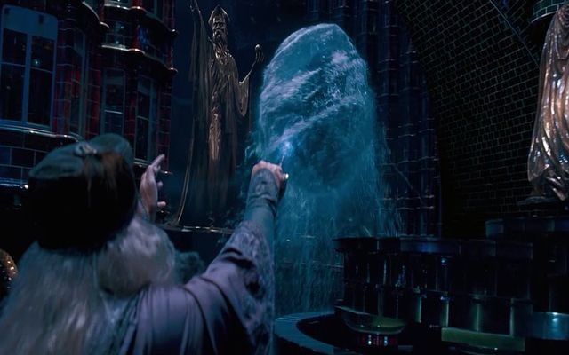Dumbledore covering voldemort in the water